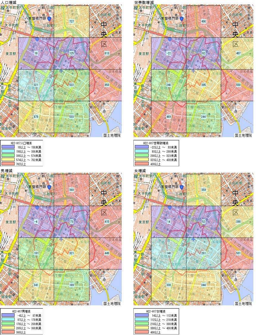 jSTAT MAP人口・世帯数増減